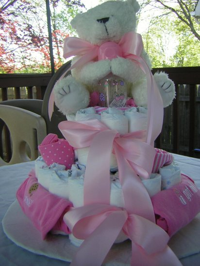 2 Tier Got Milk?  Diaper Cake *Girl*