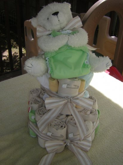 2 Tier Cloth Diaper Cake