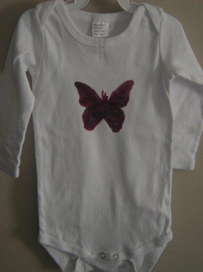 Butterfly stenciled onesie