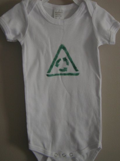 Recycle stenciled Onesie