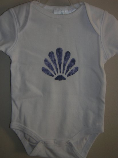 Shell Stenciled Onesie