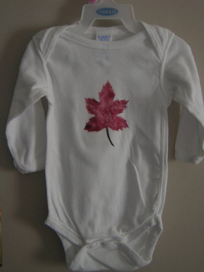 Maple leaf Stenciled Onesie