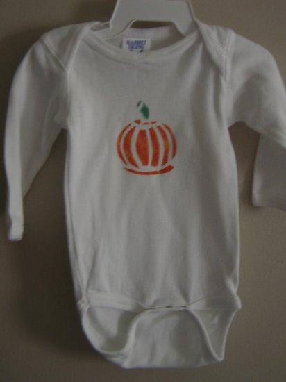 Pumpkin Stenciled Onesie