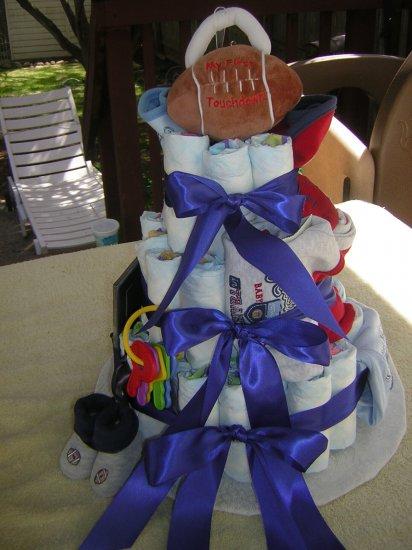 Custom Sports Diaper cake