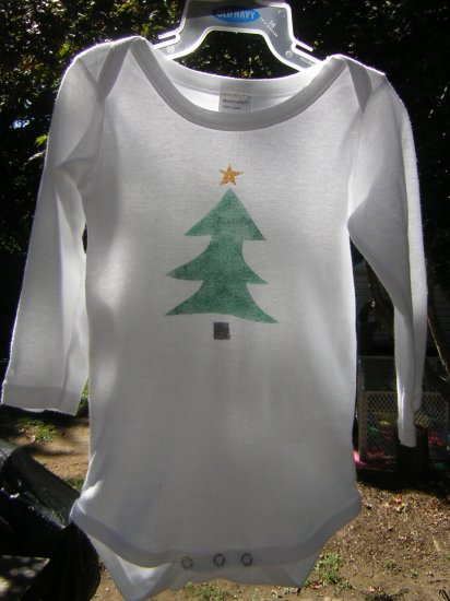 Tree Stenciled Onesie