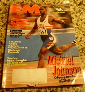 Ebony Man EM Magazine July 1996 Michael Johnson