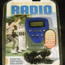 ~NEW~ Digital FM Auto Scan Radio with Alarm Clock with Stereo Earbuds