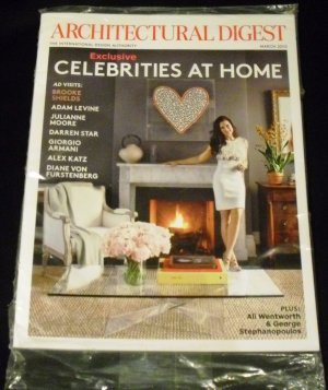 Architectural Digest March 2012 Exclusive Celebrities At Home