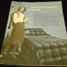 How To Whiz Through Bedmaking by Sanforvision Cluett, Peabody and Coized Di