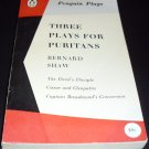 Three plays for Puritans: The Devil's Disciple, Caesar and Cleopatra...[Paperback 1961]