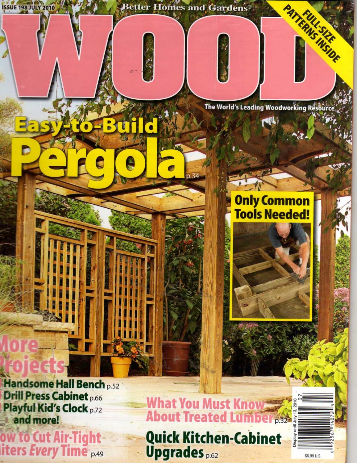 Better Homes And Gardens Wood Magazine July 2010 Issue 198