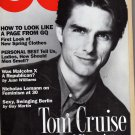 GQ Magazine, December 1992 issue-Tom Cruise
