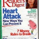 Reader's Digest, August 2002, Susan Sarandon (Heart Attack, 7 Money Rules to Break)