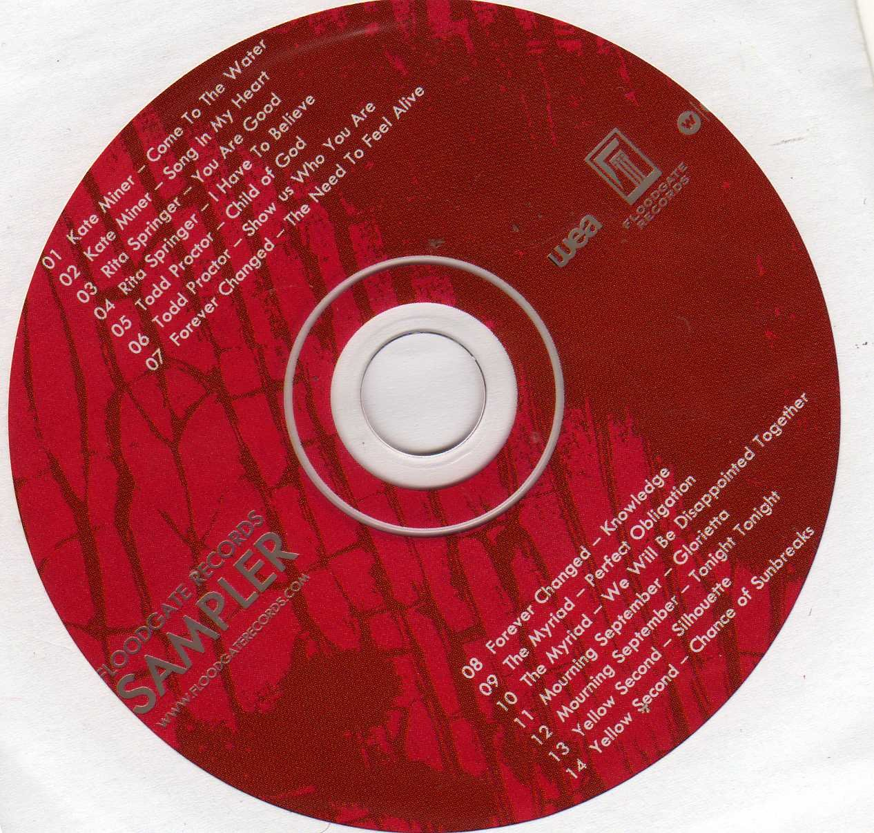 Floodgate Records Sampler (Audio CD)