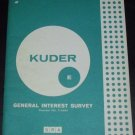 Kuder General interest survey: Form E by G. Frederic Kuder (1963)
