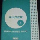 Kuder General interest survey: Form E by G. Frederic Kuder (1963)