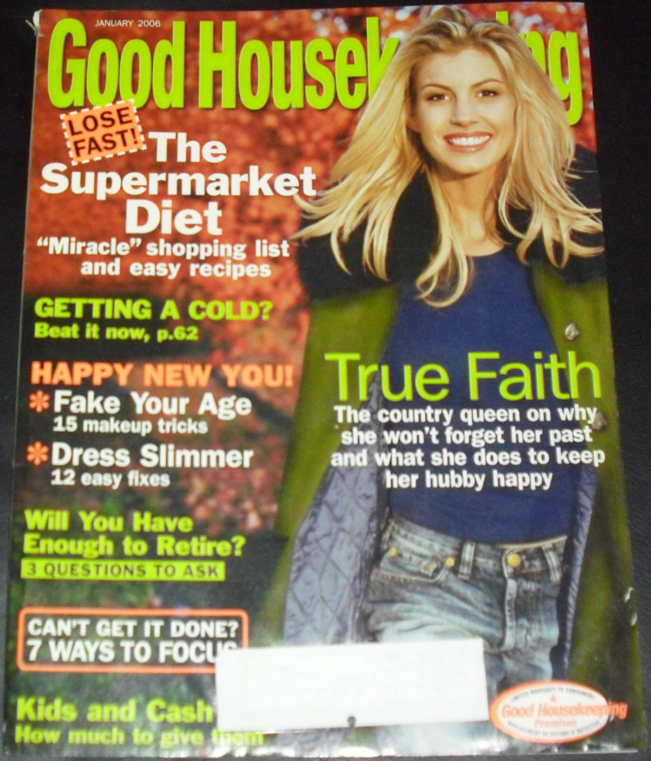 Good Housekeeping January 2006 - Faith Hill