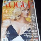 Vogue May 2011 Reese Witherspoon America&#39;s Sweetheart Toughen Up