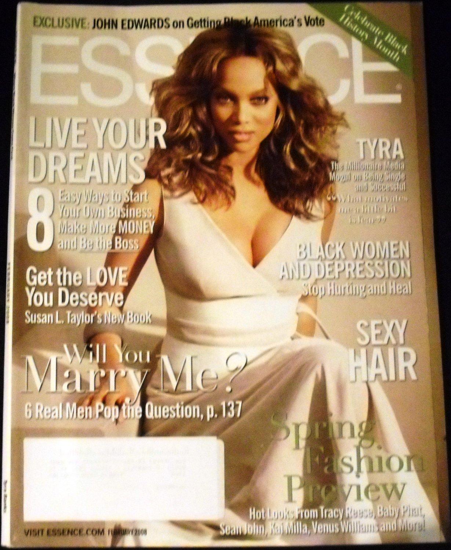 Tyra Banks Novel: Essence Magazine February 2008: Tyra Banks