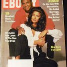 November 1993 Ebony Magazine Sugar Ray Leonard and new wife Bernadette and more