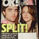OK Weekly Magazine, NOVEMBER 9, 2009 Robert Pattinson, Kristen Stewart SPLIT!