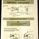 Hand Held Sewing Machine Operation Instructions by Woolworth