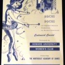 Hocus Pocus, the Musical Performance Program from Howard University April 1967