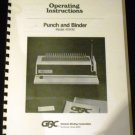 Operating Instructions Punch & Binder Model 410KM General Binding Corporation