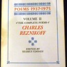 Poems 1937-1975 Volume II of the Complete Poems of Charles Reznikoff by ed. Seamus Cooney (1977)