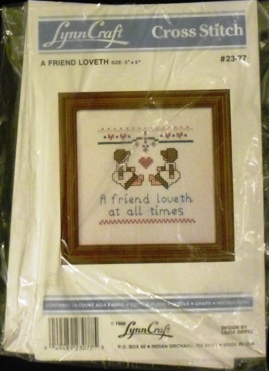 "Lynn Craft Cross Stitch ""A Friend Loveth"" #23-77"