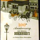 100th Anniversary Old Original Bookbinder's Restaurant Philadelphia