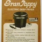 Presto Gran Pappy Electric Deep Fryer Manual