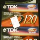 TDK D-120 Normal Bias Audio Cassette Tape  2-pack