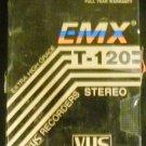 EMX T-120 Extra High Grade blank video cassette VHS
