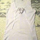 Guess women's size S sexy white ribbon laced tie tank top shirt