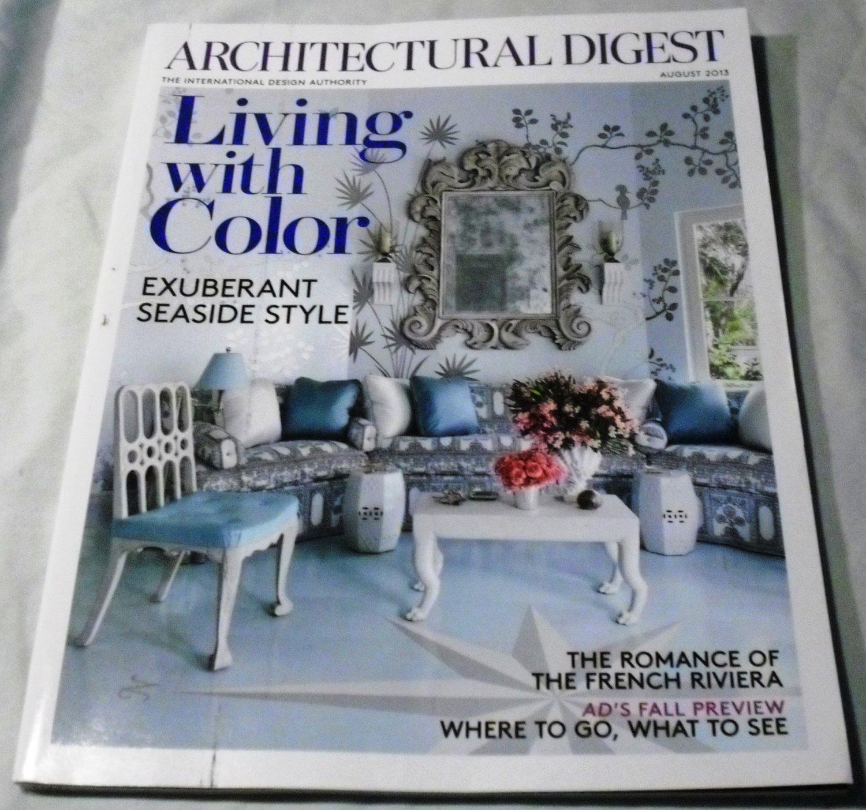 Architectural Digest Magazine August 2013