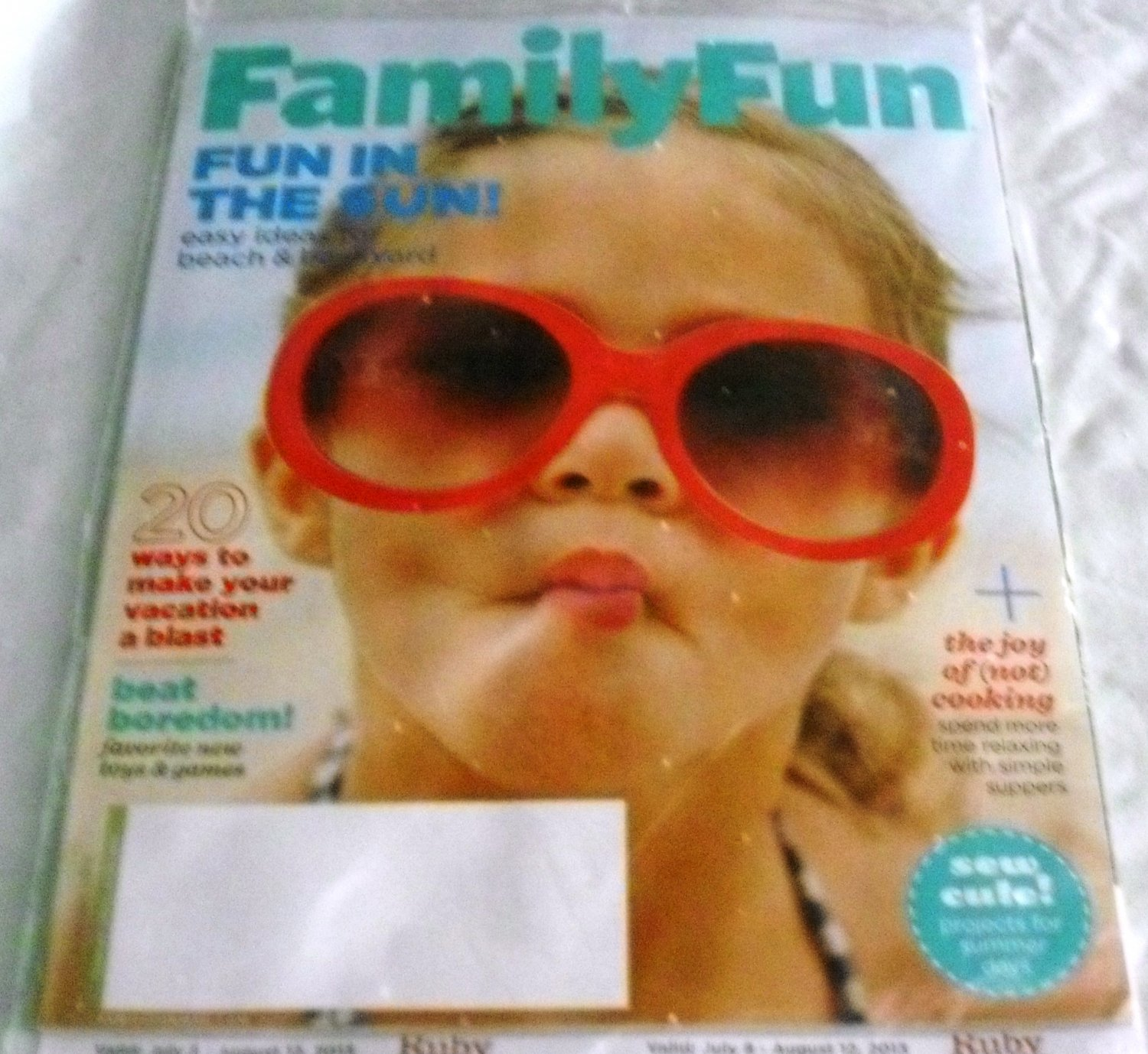 Family Fun Magazine August 2013 - Fun In the Sun
