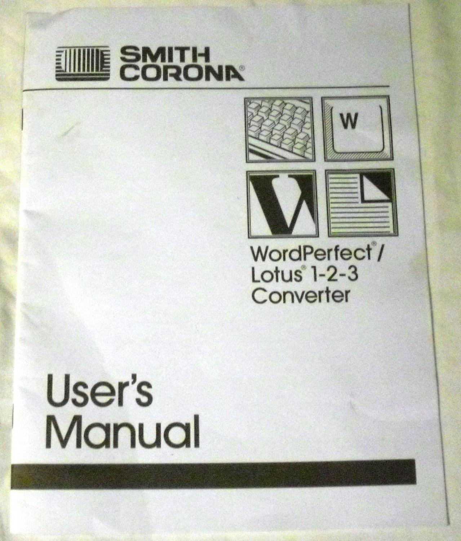 Smith Corona Owner's Manual Paperback � 1991 by Smith Corona