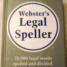 Webster's Legal Speller by Springfiel (Oct 1978)