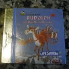 Lifesavers Tiny Tree Ornament Golden Book RUDOLPH THE RED NOSED REINDEER