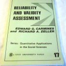 Reliability and Validity Assessment Vol. 17 by Edward G. Carmines & Richard A. Zeller (1979)