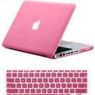 "Pink Hard Cover Crystal case for Macbook AIR 11"" & Keypad skin"