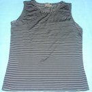 Calvin Klein Striped Black and White Tank Top Stretch, Size S