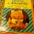 "*New* Karen's Creative Artcraft Kit 16"" Percy Proud Puss Stuffed Animal kit 3497"