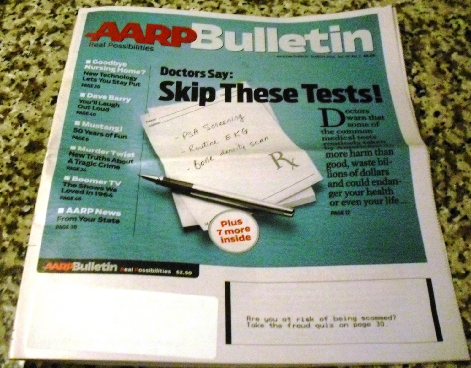 AARP Bulletin March 2014 Vol. 55, No. 2 - Skip These Medical Tests!