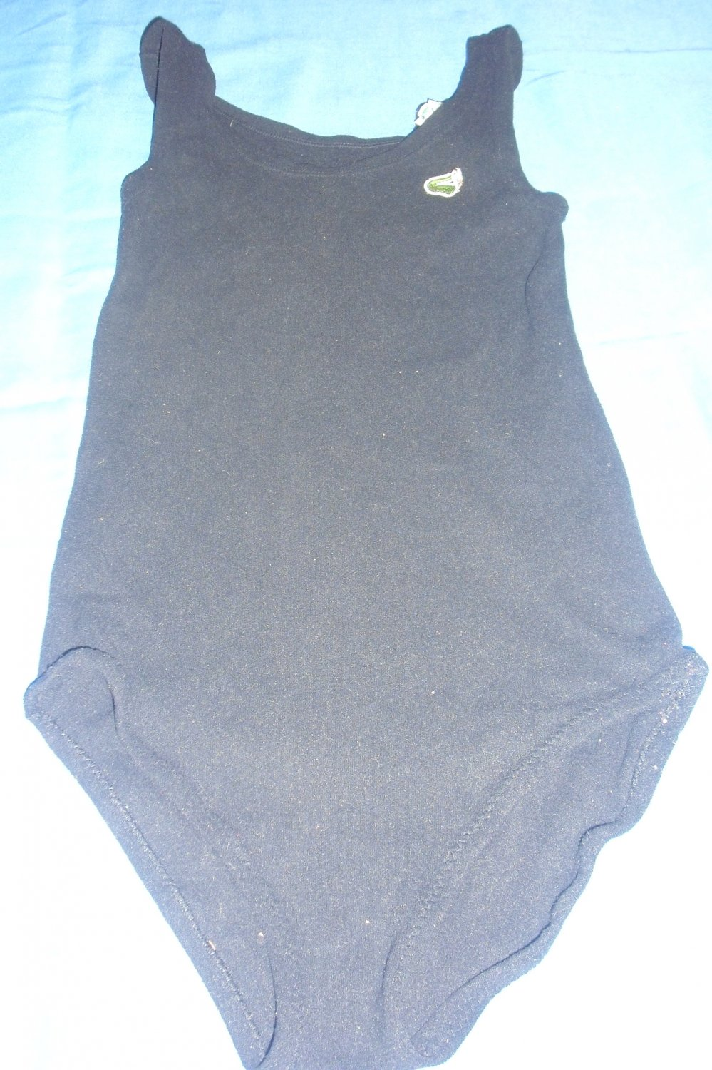 LACOSTE IZOD- Womens vintage black Bodysuit, Leotard, Swimsuit