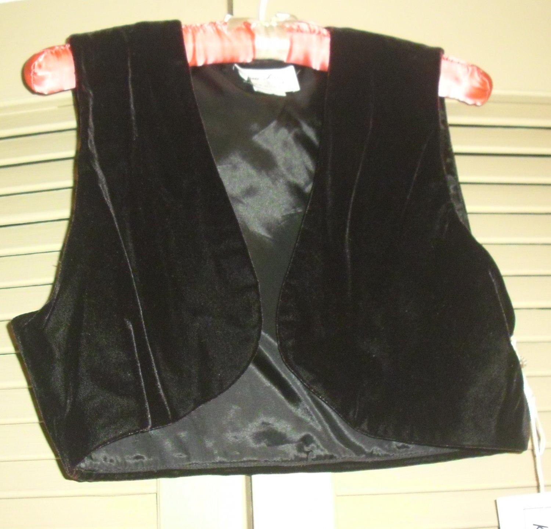 Karen Lucas Collection Black Velvet Vest Size 10