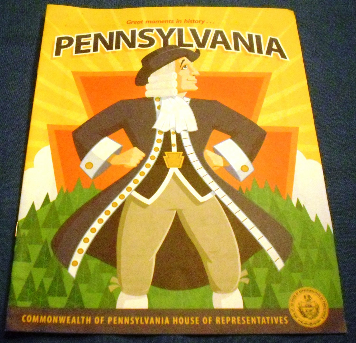 Great moments in history... Pennsylvania Coloring Book.