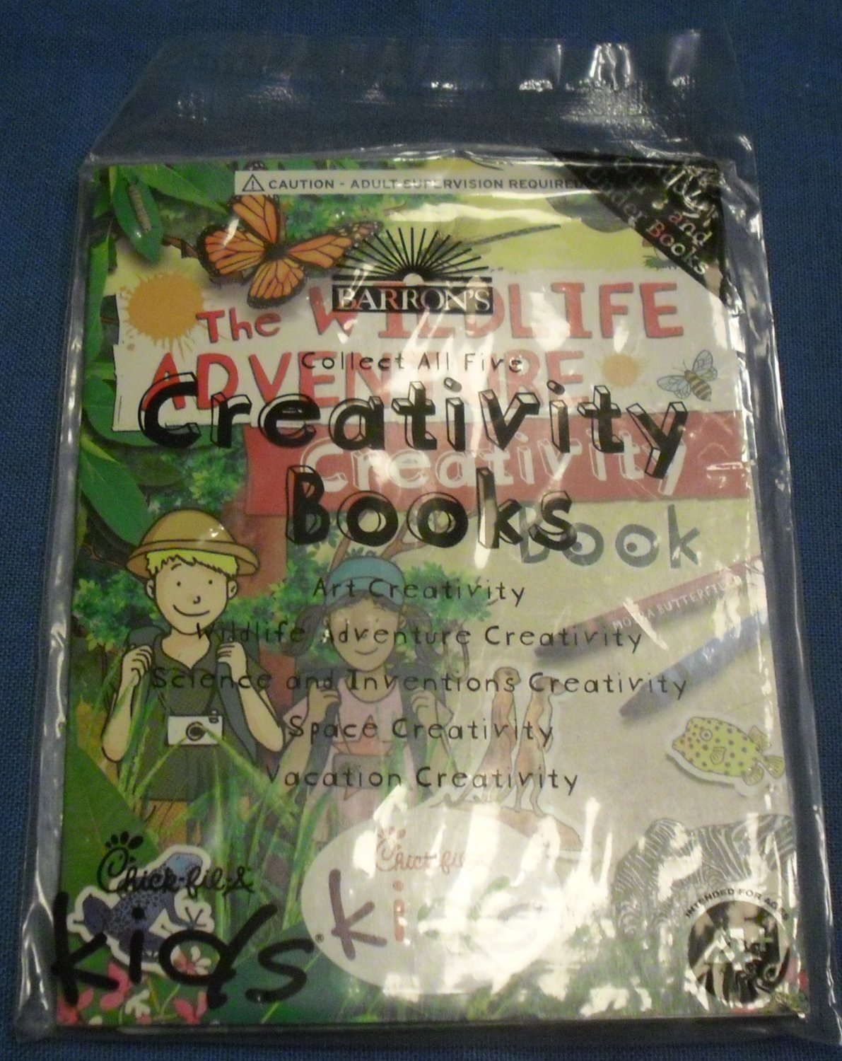 2014 Chick-fil-A Kids Meal Toy - The Wildlife Adventure Creativity Book