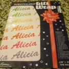 "Personalized Gift Wrap - Alicia 20"" x 28"" One sheet"